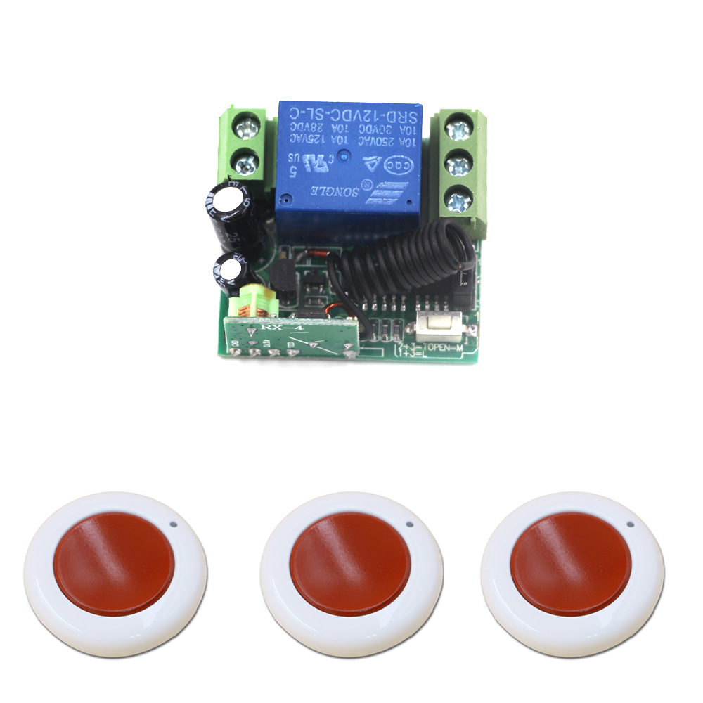 Wireless Remote Control Switch DC 12V Mini Relay RF Remote Switch Radio Controller 1CH Receiver Transmitter 315Mhz/433Mhz rf 2 channel 315mhz 433mhz 85v 250v wireless remote control relay switch 2 radio transmitter and 1 receiver controller system