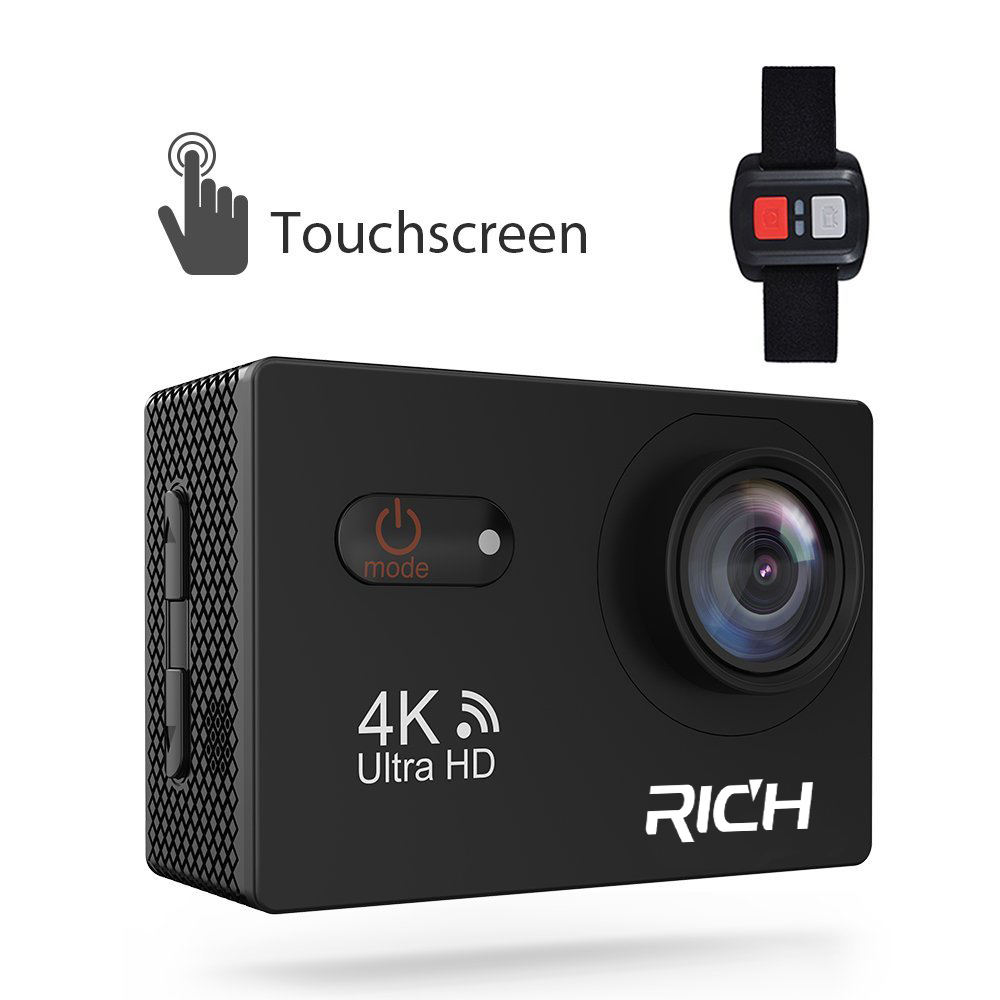 RICH S35 4k wifi Ultra HD Waterproof Digital DV Action Camera Sport Helmet Cam Full HD 1080p Go Waterproof pro Tough Screen cam wimius 20m wifi action camera 4k sport helmet cam full hd 1080p 60fps go waterproof 30m pro gyro stabilization av out fpv camera