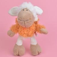 35 cm orange doek schapen knuffel voor leuke baby/kids gift, lam Pluche Pop Gratis Verzending
