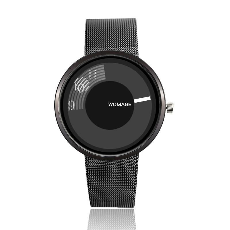 2019 New Hot Sell Brand Womage Women Mesh Wrist Watch Popular Style Women Quartz Watches Fashion Unique Designer Women Watch