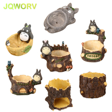 7-Style Cartoon Cute totoro flower pot farmhouse decor Resin Creative Crafts planters Home office garden succulent plant pot