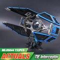 Nuevo 703 unids Lepin 05044 Star Wars Serie de Edición Limitada de La TIE Interceptor Modelo de Bloques de Construcción Ladrillos Juguetes 7181