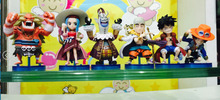 Anime One Piece 6PCS/SET Luffy Gekko Moria ACE PVC Action Figures Toys Brinquedos Dolls