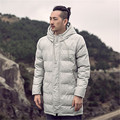 2016 Winter Fashion New Chinese Style Long Cotton Hooded Jacket Vintage Fabric Printing Chinese Style Men's Fashion My136