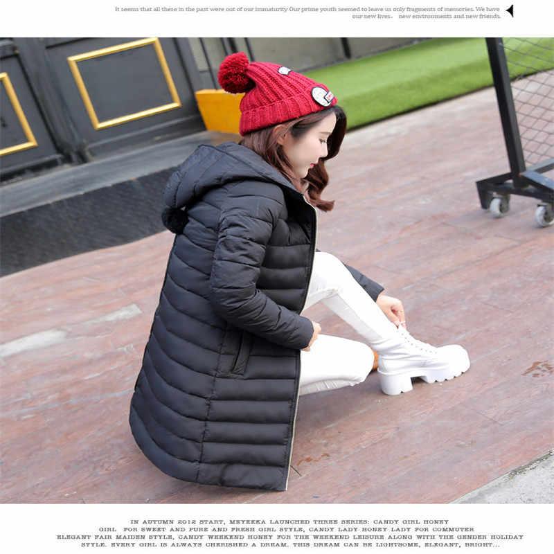 Зимняя Новинка, Женская куртка средней длины с хлопковой подкладкой, пальто, женское хлопковое пальто с капюшоном, теплое пальто для отдыха G1888
