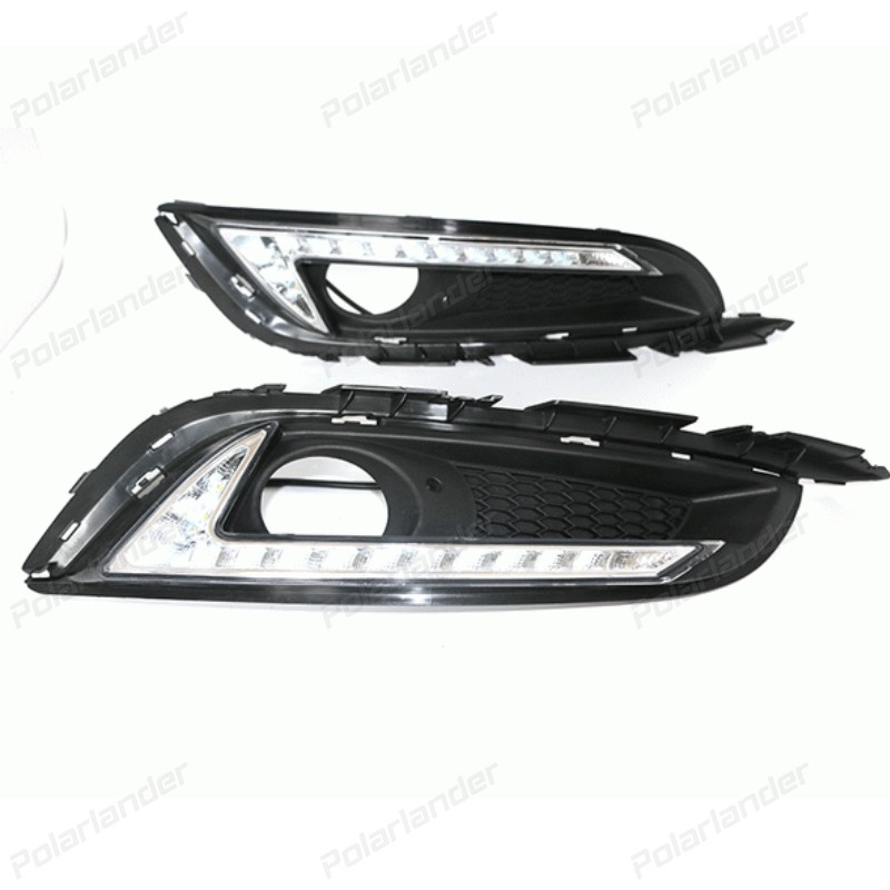car accessory fog lamps LED DRL Daytime Running Lights Car daylight For B/uick R/egal 2013 2014 2015