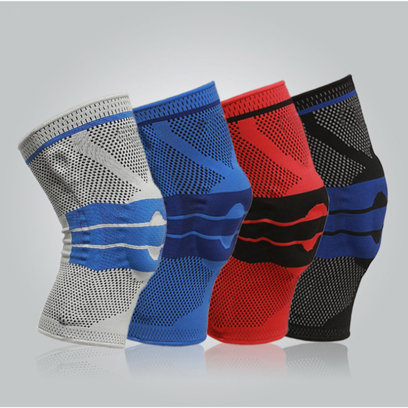 1 Pc Anti-skidding Spring Support Kneecap Anticollision Breathable Kneepad High Elasticity Knee Guard Support Basketball Fitness
