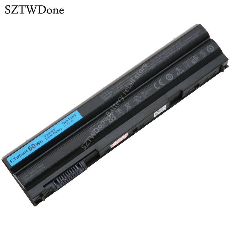 SZTWDone Original 60WH T54FJ Laptop Battery for DELL Latitude E5420 E5430 E5520 E5530 E6420 E6430 E6520 E6530 E6440 E6540 8858X фильтр для воды новая вода praktic eu310
