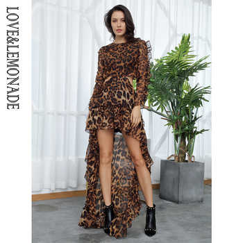 Love&Lemonade  Sexy Cut Out Open Black Leopard Chiffon Dress  LM81503 - DISCOUNT ITEM  10% OFF All Category