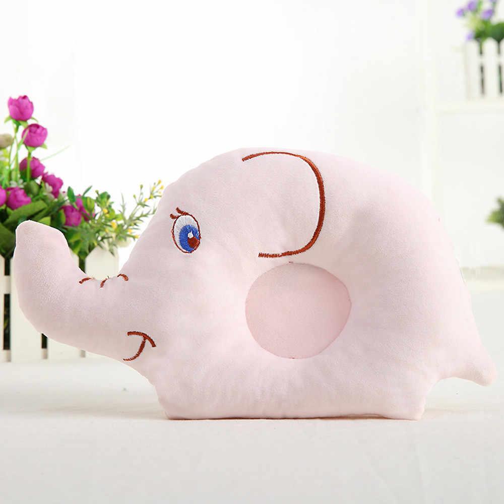 Para almohada de bebé recién nacido de 3-24 m cabeza plana cojín de apoyo para dormir previene la almohada de estilo de elefante bebe bebé almohada # j