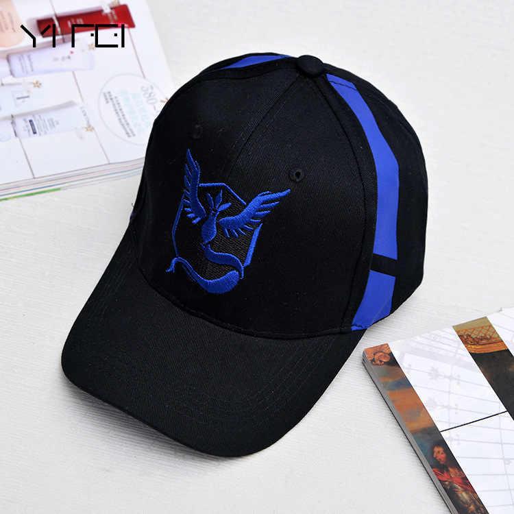 Pokemon Go Cap Hat Team Valor Team Mystic Team Instinct Pokemon Cap Go Team  Black Baseball bc7491f7be38