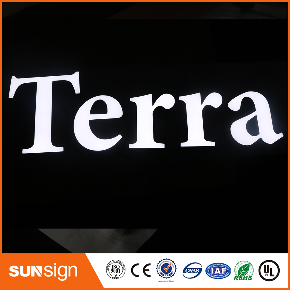 Hot Sale Frontlit Stainless Steel Letter Shaped Lighting 3d Sign Letters