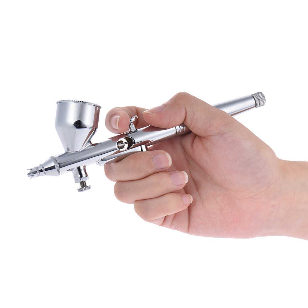 NT-18W מיני Airbrush מדחס ערכת 9cc Airbrush צבע Spary אקדח עבור נייל אמנות עבור עוגת רכב ציור איפור
