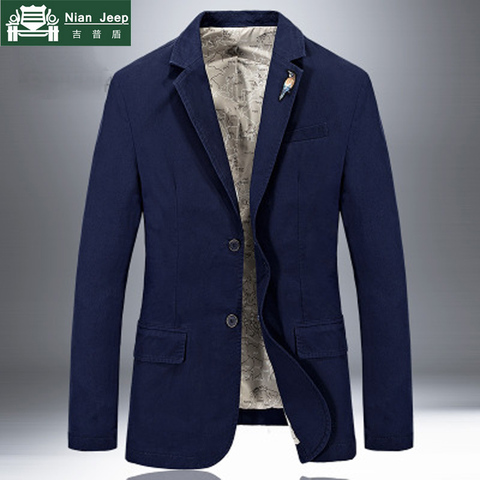 2018 New Brand Jacket Men Blazer Jacket Coat Pure Cotton Fabric Luxury Fashion Casaco Masculino Removable Brooch 5 Colors S-4XL Lahore