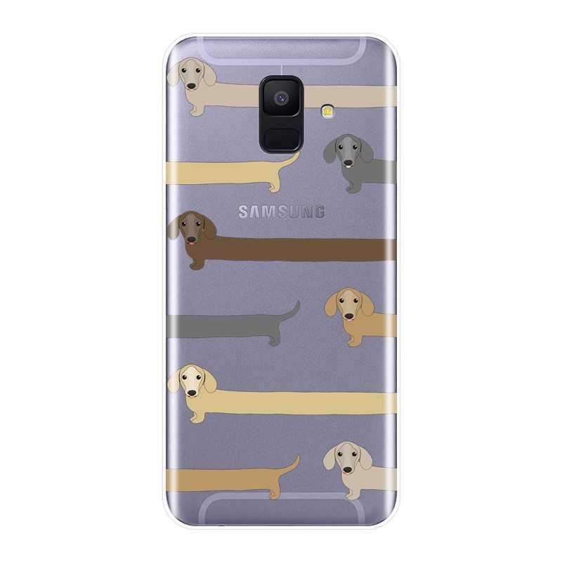 Одежда для собак силиконовый чехол для телефона для samsung Galaxy A6 A8 плюс 2018 A5 A7 мягкая задняя крышка чехол для samsung Galaxy A3 A5 A7 2016 2017