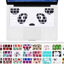 """Силиконовая Защитная пленка для клавиатуры Apple Macbook Pro Air retina 1"""" 15"""" 1"""" F Air 13 retina 13 1 шт панда"""