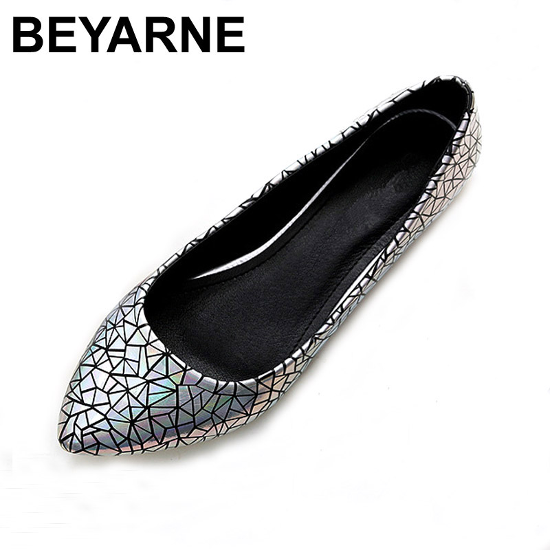BEYARNE Spring Summer  Women Moccasins Slip On Women Flats Vintage Shoes Large Size Womens Shoes Flat Pointed Toe Ladies Shoes yiqitazer 2017 new summer slipony lofer womens shoes flats nice ladies dress pointed toe narrow casual shoes women loafers