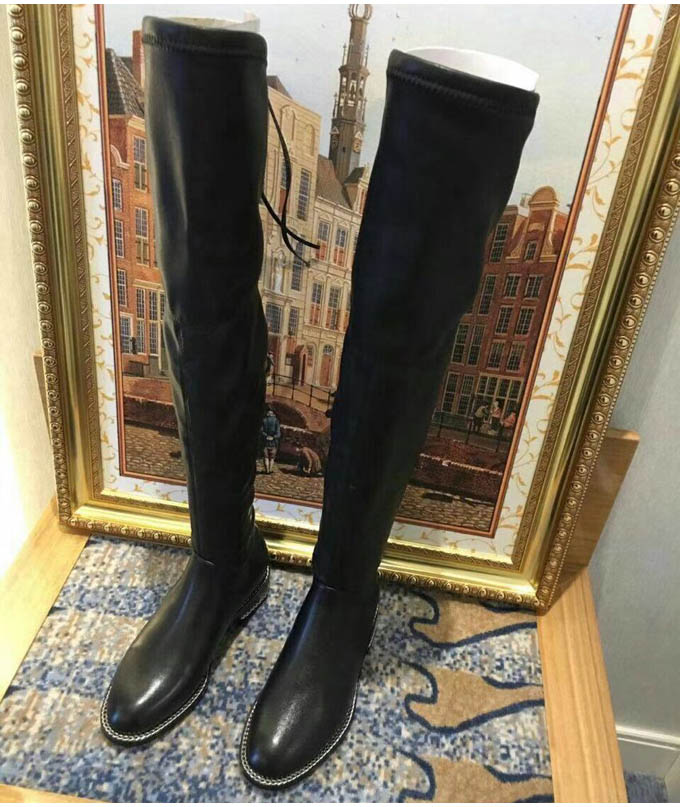 haute Western As Pic Dames Chaude Med Femmes Rond De Cuir Sexy Zapatos Bout Bottes Talons Genou 2018 En Automne Pic Inside as flock Solide as Mujer Inside Hiver Chaussures nwq1Trw8FP