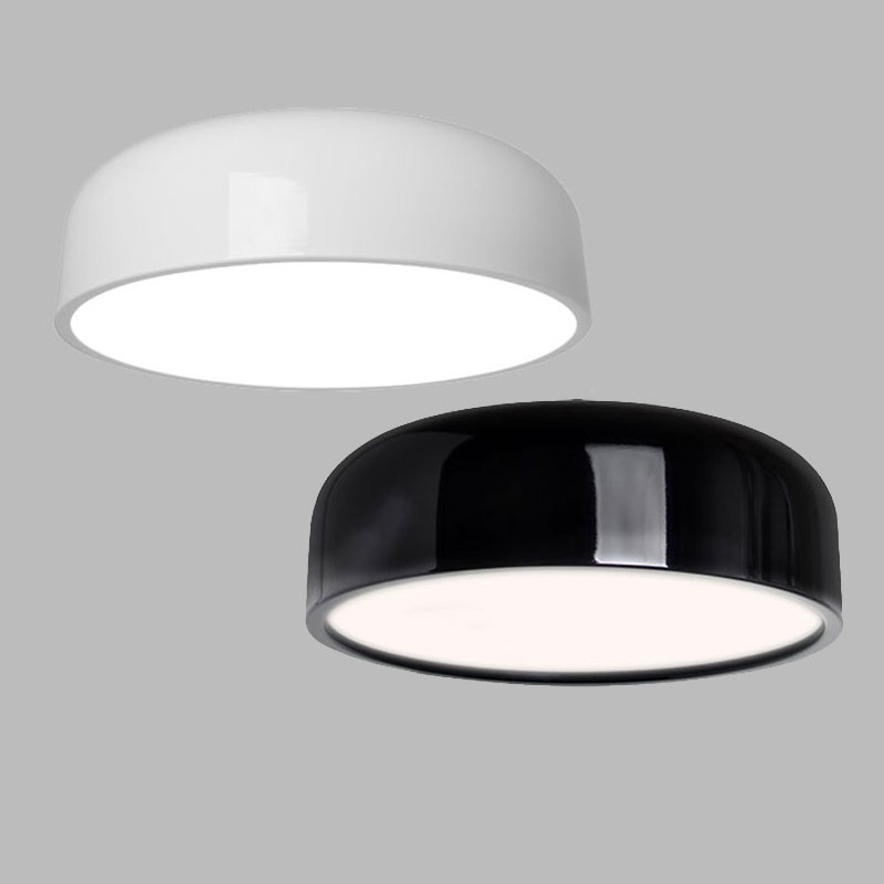 Modern Ceiling Lamp led Black White Round Ceiling Light For Living Room Office Kitchen Fixture Indoor Home Lighting noosion modern led ceiling lamp for bedroom room black and white color with crystal plafon techo iluminacion lustre de plafond