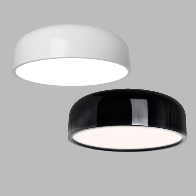 Beroemd Moderne Plafondlamp led Zwart Wit Ronde Plafondlamp Voor Woonkamer LK03