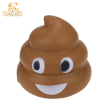 Smile Poop Cartoon Emoji Squishy Soft Toys Funny Face Expression Sticker Cute Squeeze Squishies Kawaii Slow Rising Kid Gifts Hot