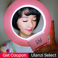 Ulanzi ISF LED Selfie Ring Light Supplement Brightness Photo Light Clip-on Makeup Beauty Video Lamp for iPhone Samsung S8 S7 1
