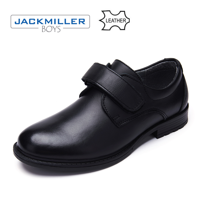 Jackmillerboys School Students Shoes Classic oxfords genuine Leather Children Shoes For Boys Flats Dress Shoes Black size 32-37 ...