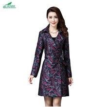 Autumn clothing 2017 fashion large size windbreaker coat women Slim thin Korean long section of women's Outerwear OKXGNZ QQ907