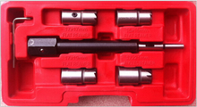 5pc Diesel Injector Cleaner Seat Kit Engine Diesel Injector Seat Cutter Carbon Cleaner