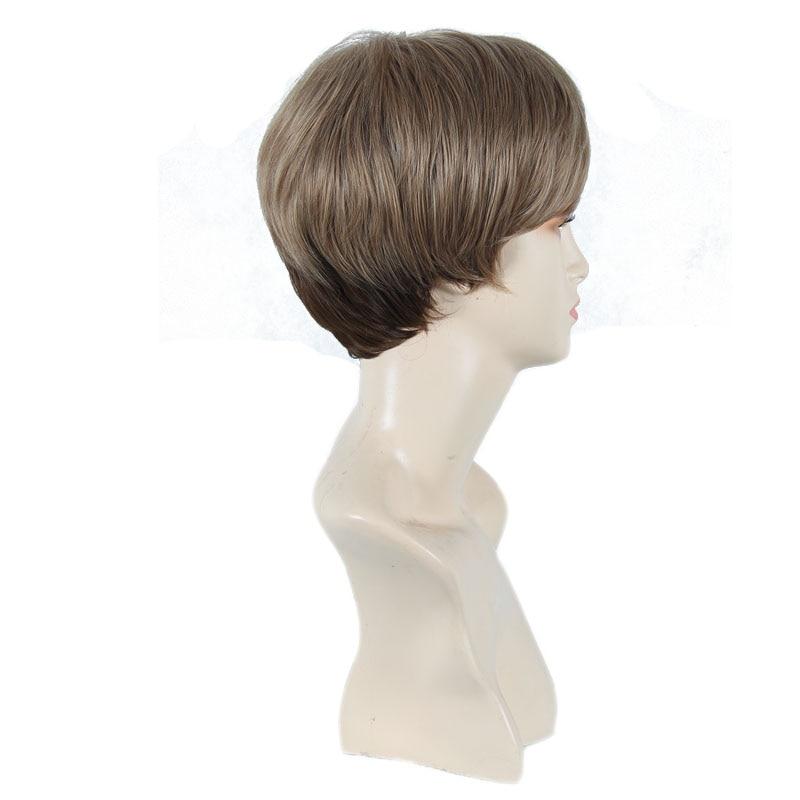 Kvinnlig Charmig Kort Rett Syntetisk Paryk för Svarta Kvinnor Blond - Syntetiskt hår - Foto 5