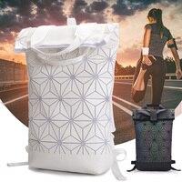 Luminous Backpack Diamond Lattice Bag Men Travel Laptop Backpacks Geometric Women School Bag Teenage Girl Noctilucent Backpack