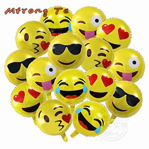 Aliexpress.com : Buy 15pcs/lot 18 Inch Emoji Foil Balloons