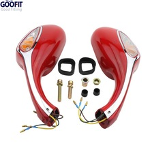 GOOFIT 8mm Scooter motorcycle Rearview Mirrors Pair Moped Motorcycle Gy6 50cc 60cc 80cc 125cc 150cc Group-67 goofit gy6 scooter moped motorcycle 50cc 125cc 150cc 250cc rear view mirror 8mm pair e036 023