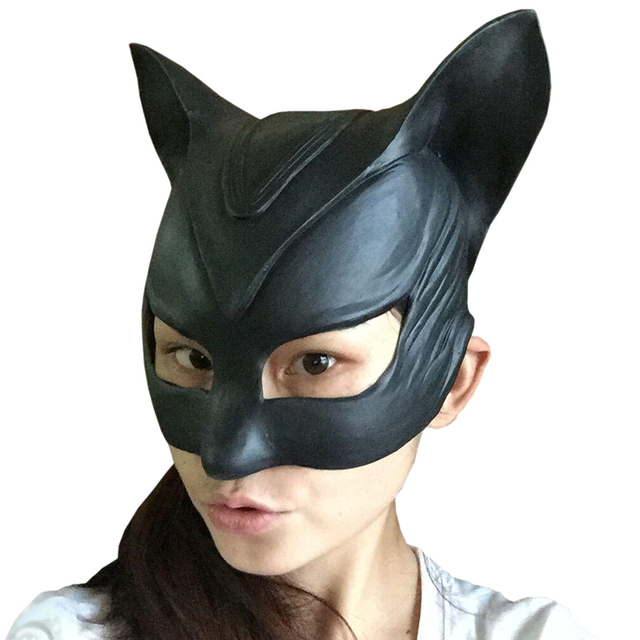 Batman Catwoman Rubber Latex Party Mask