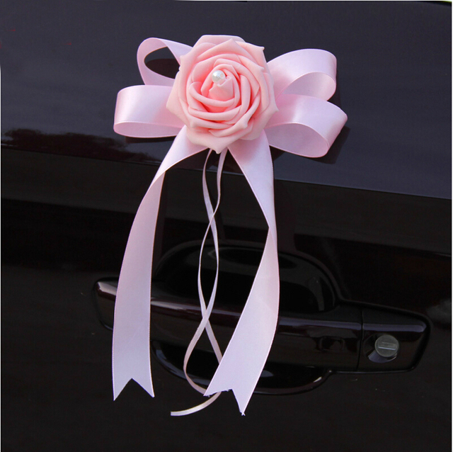 wholesale 2015 ribbon wedding car wedding car decoration mariage decoration kit satin ribbon roses car decoration - Aliexpress Decoration Mariage