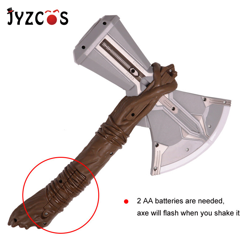 JYZCOS Kids Thor Odinson Cosplay Props Weapons Armor Stormbreaker LED Axe Avengers: Endgame Helmet Cape Halloween Costumes