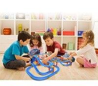115pcs Children toys electric Thom rail car kids train track model slot toy baby racing Multi orbit car birthday gift Kids Toy