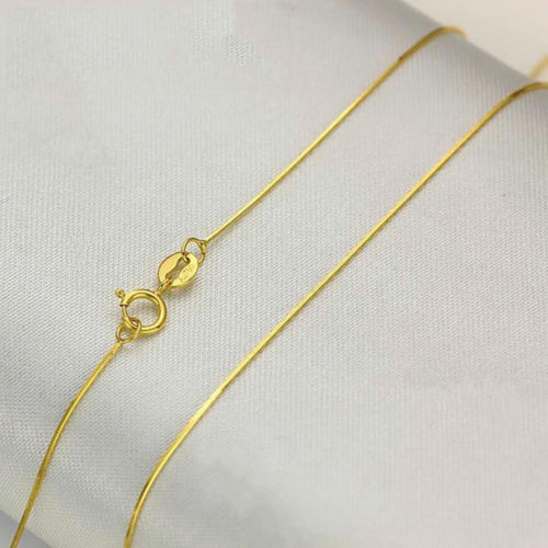 New Fine Pure AU750 18K Yellow Gold Womens Snake Chain Necklace 18inchNew Fine Pure AU750 18K Yellow Gold Womens Snake Chain Necklace 18inch