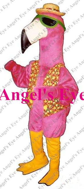 Mascot Pink Flamingo Birds Mascot Costume Africa Animals Bird Flamingo  Mascotte Fancy Dress for Carnival Holiday Party SW1327 09c23258f