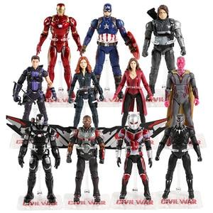 Image 1 - Vendicatori Iron Man Capitan America Ant Man Hulk Spiderman Black Widow Pantera Scarlet Witch Visione Thanos Action Figure Giocattolo