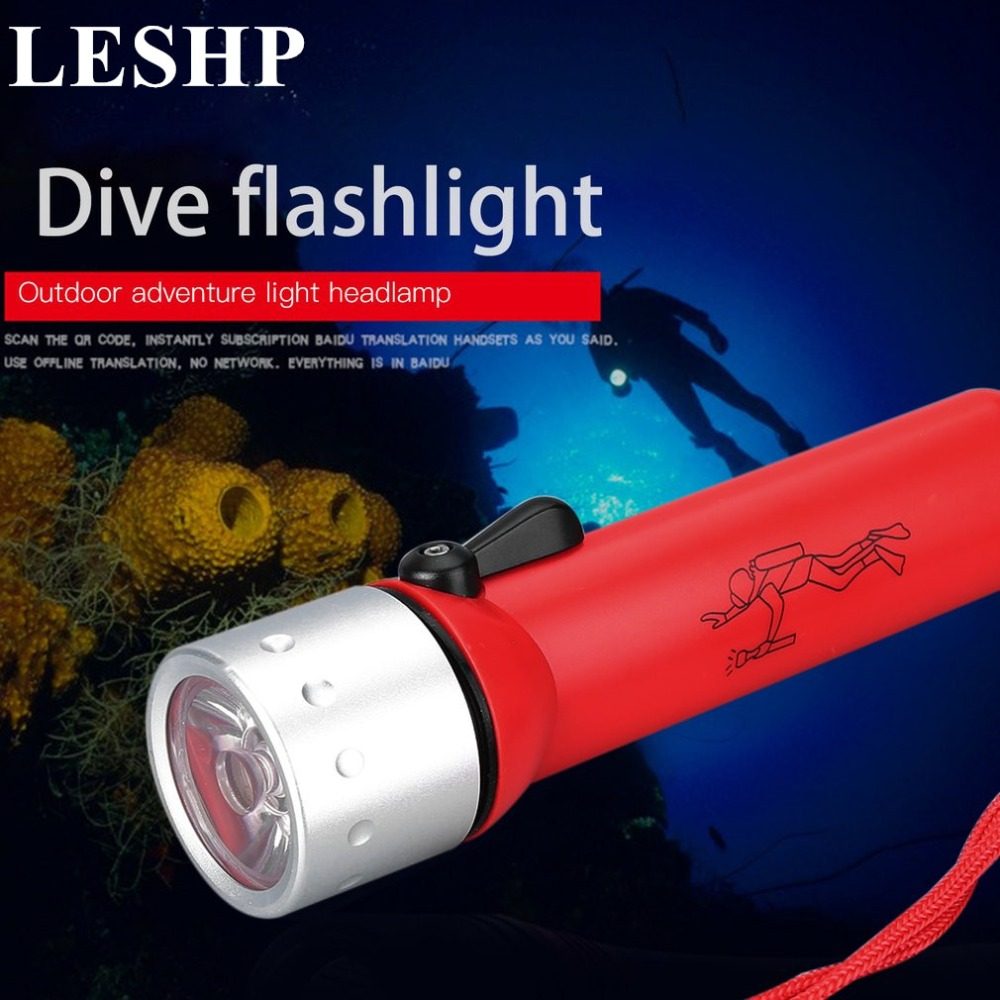 Waterproof Flashlight Underwater Sealed Insulated Diving Torch LED Outdoor Diving Flashlight Glare Lighting 3W 50 Meter Lamp