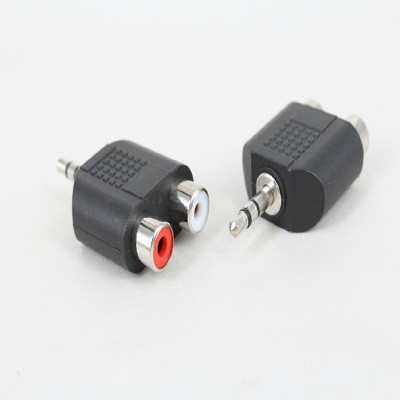 3.5mm Stereo Plug To 2RCA(Red+White) Female Connector Adapter Promotion Hot New