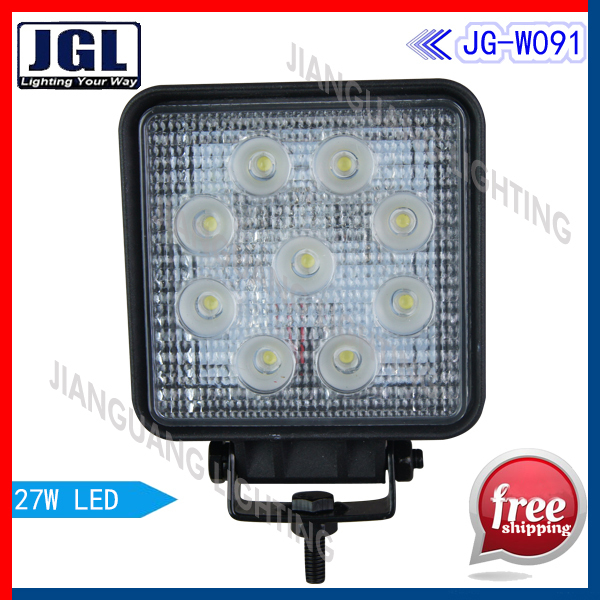50 Pcs/lot Free shipping!! NEW DESIGN! 27W LED Work Light, thin shell, special design  led working lamp For Heavy Duty Machine