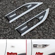 Car 2Pcs ABS Air Intake Flow Vent Fender Side Vent Molding Sequins Cover Decoration Stickers Trim For 2015 Vezel HRV HR-V