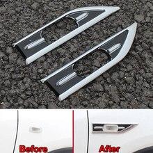цена на Car 2Pcs ABS Air Intake Flow Vent Fender Side Vent Molding Sequins Cover Decoration Stickers Trim For 2015 Vezel HRV HR-V