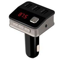 MALUOKASA Car Mp3 Player Bluetooth Car FM Transmitter Modulator Wireless Handsfree Music Audio With USB Interface
