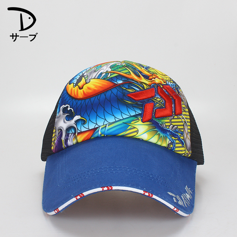 Brand Daiwa Outdoor Fishing Hat Men And Women Cool Embroidered Painted Sun Visor Breathable Mesh Hat For Spring Summer
