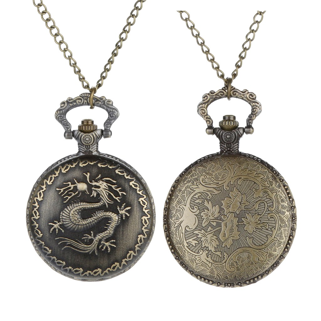 Watches Vintage Chinese Zodiac Monkey Playing Quartz Pocket Watch Necklace Pendant Chain Clock For Women Men Gifts Lxh