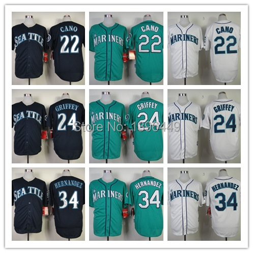 online store 486a8 1f8b3 Seattle Mariners #22 Robinson Cano #24 Ken Griffey jr #34 ...