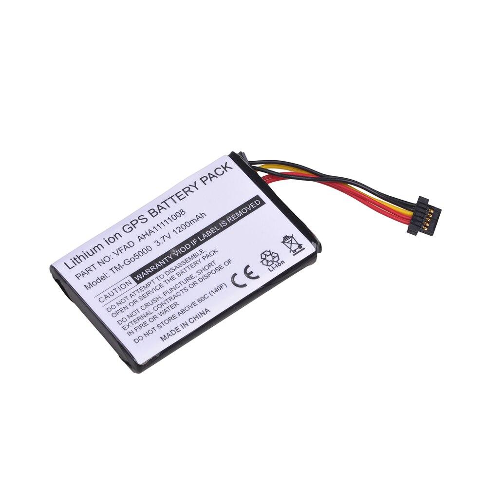 Tectra 1 pièces 1200 mAh GPS batterie AHA11111008 VFAD batterie pour TomTom 4FL50 4FL60 Go 5000 GO 5100 Go 6000 GO 6100 Go 525 PRO camion